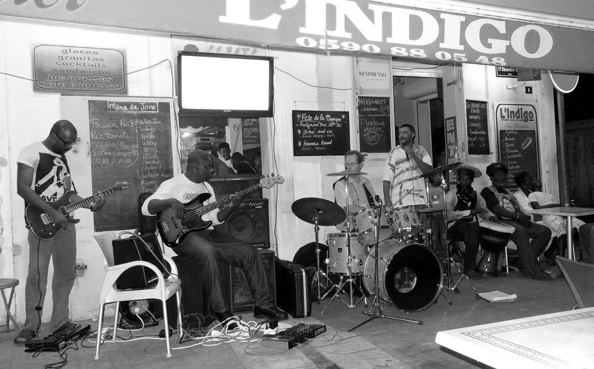 L'Indigo bar restaurant de Sainte-Anne en Guadeloupe